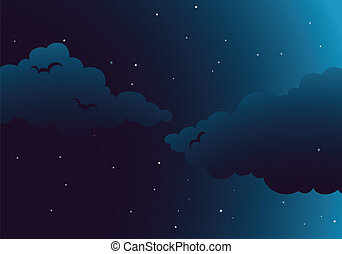 A peaceful night - Illustration of a peaceful night with...