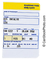 Boarding pass - ticket stub
