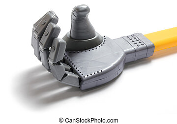 Robotic Hand on White Background