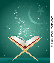 koran background - an illustration of the holy koran on a...