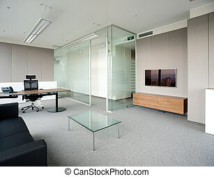 Corporative office - Indoor photograph of empty office...