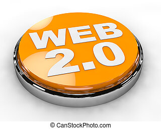 Button Web 2.0 over white background