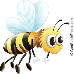 A bee - Illustration of a bee on a white background