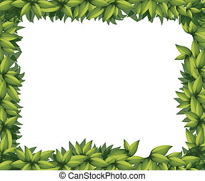 Border made of leaves - Illustration of a border made out of...