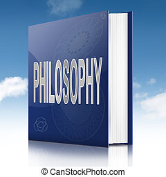 Philosophy text book. - Illustration depicting a text book...