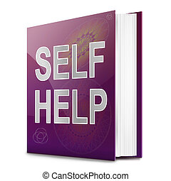 Self help concept book - Illustration depicting a book with...