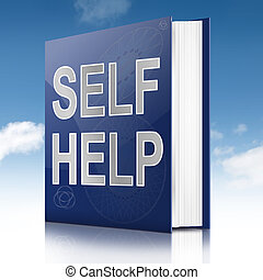Self help book. - Illustration depicting a book with a self...