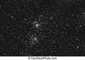 star double cluster - the famous stars double cluster in the...