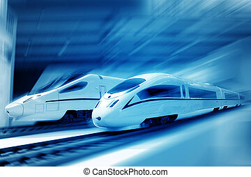 High speed train - the background of the high-speed train...