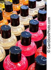 Foam bath bottles - Luxury foam bath bottles in striking...