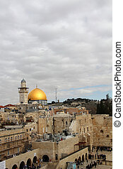 Wailing Wall and Dome of the Rock - Western Wall an...