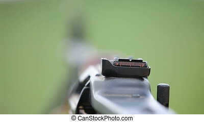 Automatic rifle - Close-up on automatic rifle