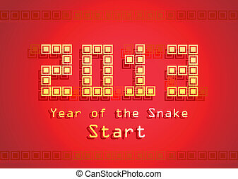 Snake year - 2013 Year of the Snake design Vector...
