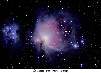 great nebula - the great orion nebula is a diffuse nebula...