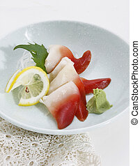 sashimi - japanese sashimi of surf clam