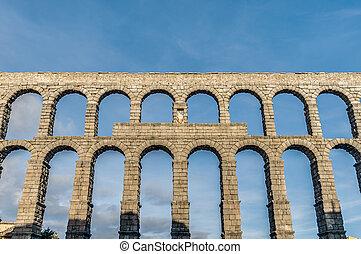 Aqueduct of Segovia at Castile and Leon, Spain