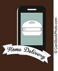 Home delivery fast food graphic