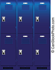 Individual locker - Double set of individual lockers. Vector...