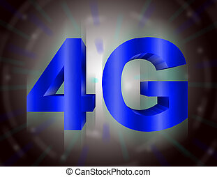 4G symbol - 4G high speed technology symbol