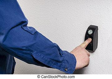 needed, deur,  open, vingerafdruk