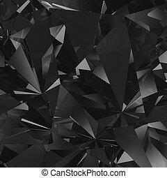 Black crystal facet background