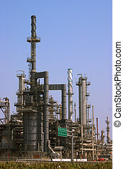 refinery - shot of an oil refinery in southern california