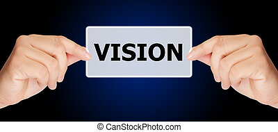 man hand touching on vision button