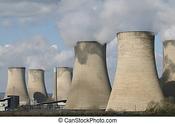 Coal fuelled power station chimneys - Cooling chimney towers...