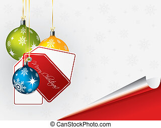 Bright christmas background with decorations