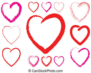 Valentine Hearts - Various Valentine heart shapes and colors...