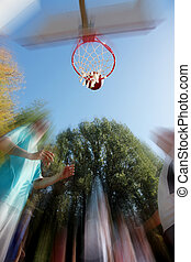 blurred street ball - street basketball blurred conceptual...