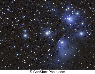 Pleyades - A Stars cluster and nebula, taken with...