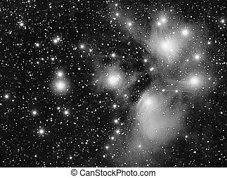 m45 - real luminance picture taken with telescope of m45...