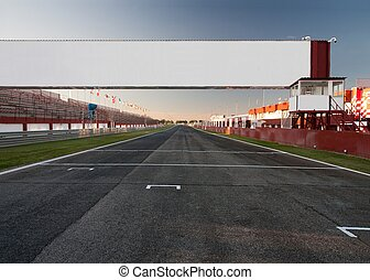 finish line - a racetrack with an empty board, for filling...
