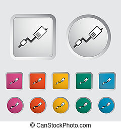 Exhaust pipe single icon Vector illustration
