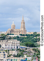 Parish church in Mgarr, on the eastern coast of the maltese...