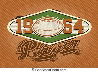 American Football - American football Player insignia, 1964...
