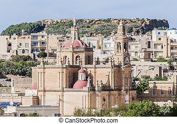 Sacred Heart Parish Church in Rabat, Gozo, Malta. - Sacred...