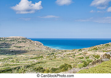 Ramla Bay, on the northern side of Gozo, Malta - Ramla Bay,...