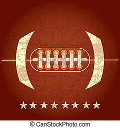 American Football abstract concept with stars, on grunge...