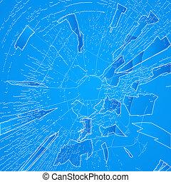 Windshield crack - Cracked window, windshield texture.