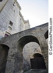 Inside yard of Tarascone Castle