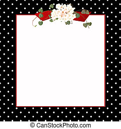 black polka dotted frame - White polka dots on black with...