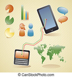 MOBILE SALES ICONS - Technology Application and worldwide...