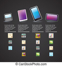 MOBILE SALES ICONS - Style modern and vintage mobile...