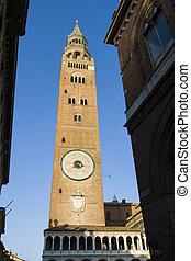 Cremona - Main square in Cremona, the Torrazzo
