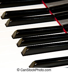Piano keys - Close up Piano keys