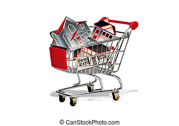 Homes in shopping cart.