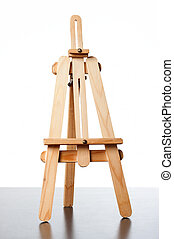 tripod - an empty easel for putting a board in it