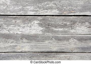 Shabby Barn Boards III - close up of shabby, peeling, white...
